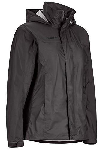 Marmot PreCip Women's Waterproof Rain Jacket, Black, Medium