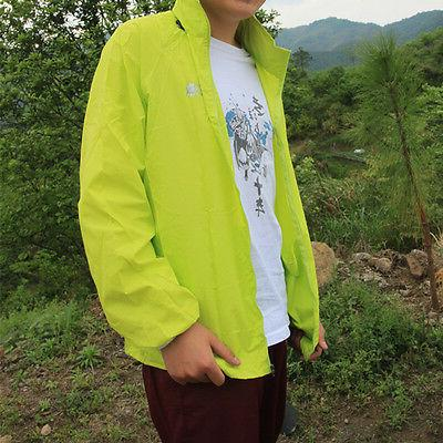 Men Hiking Waterproof Jacket Hooded Raincoat
