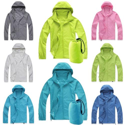 Men Women Waterproof Jacket Hooded Raincoat
