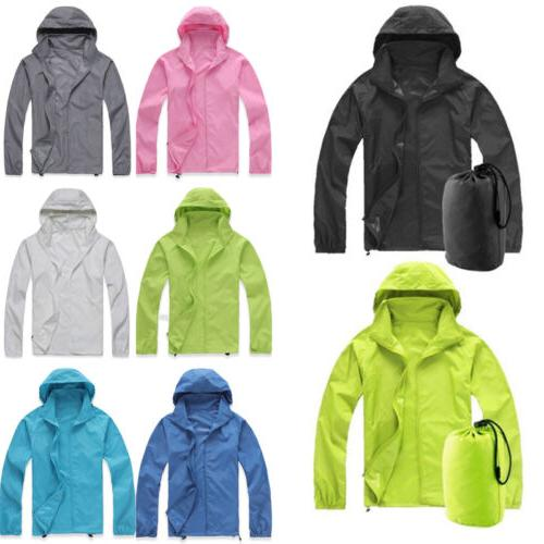 men women jogging hiking waterproof windproof jacket