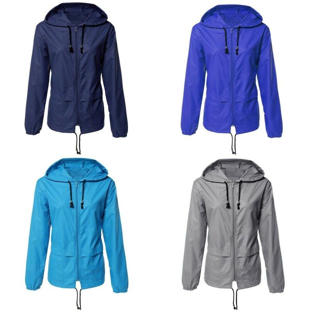 Women Jacket Waterproof Windbreaker Raincoat Sporting Wear O