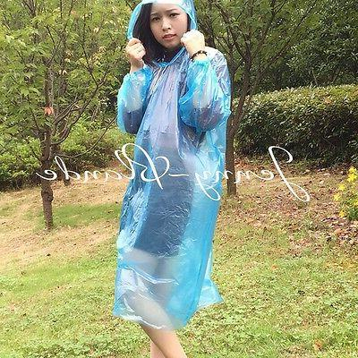 Women/Men PE Raincoat Hooded Rainwear