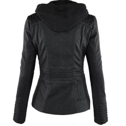 Womens Hooded Slim Parka Trench Warm