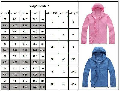 Women Hoodies Jogging Hiking Waterproof Windproof Outwear