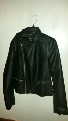 Ana Faux Leather Jacket Size Medium without