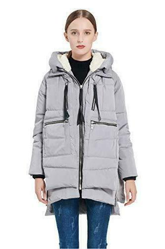 authentic women thicken padded coat hooded jacket