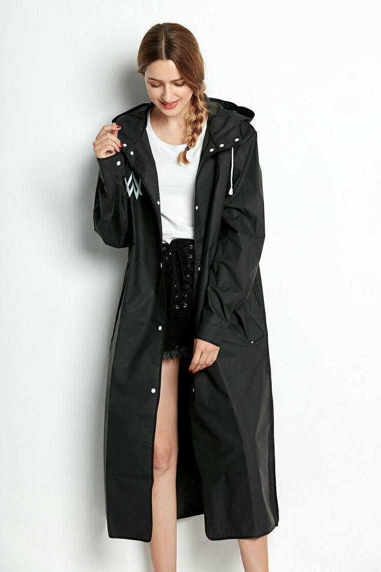 Beautiful Black Womens Raincoat