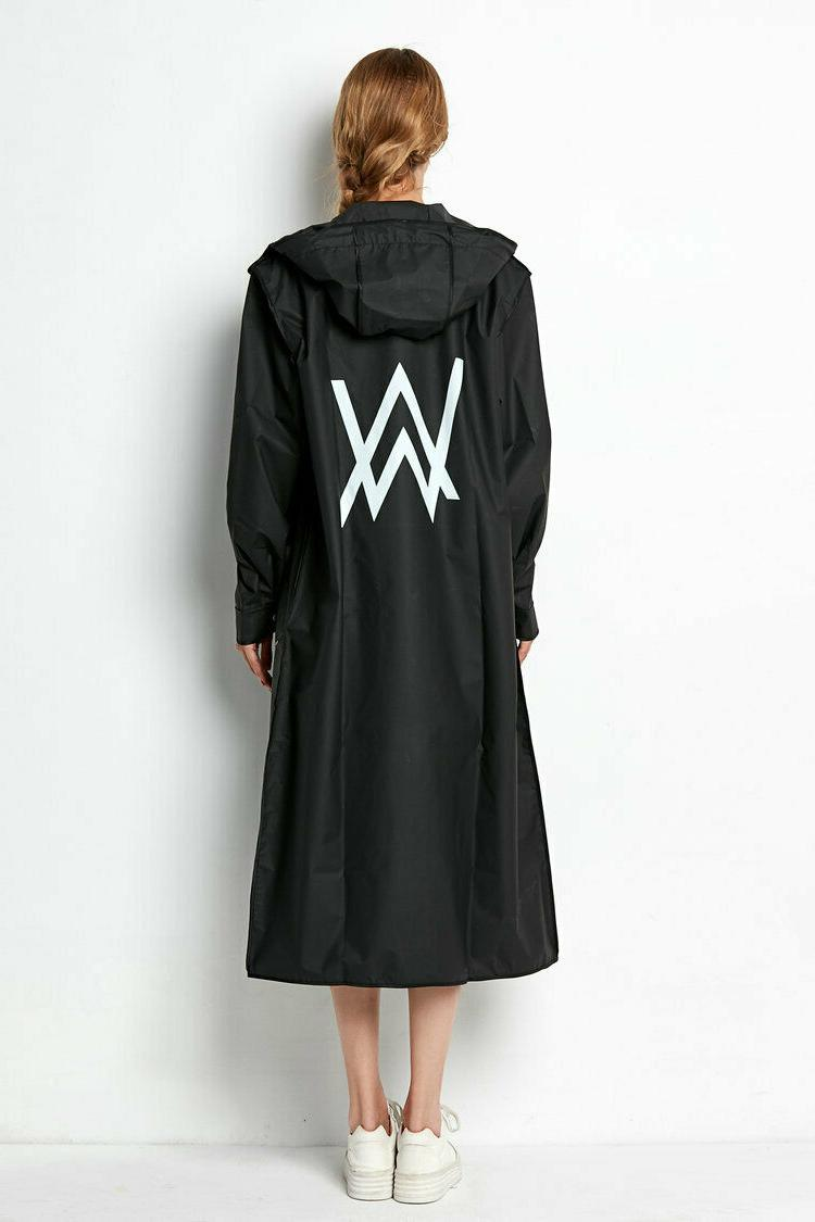 Beautiful Black Womens Raincoat Jacket Long