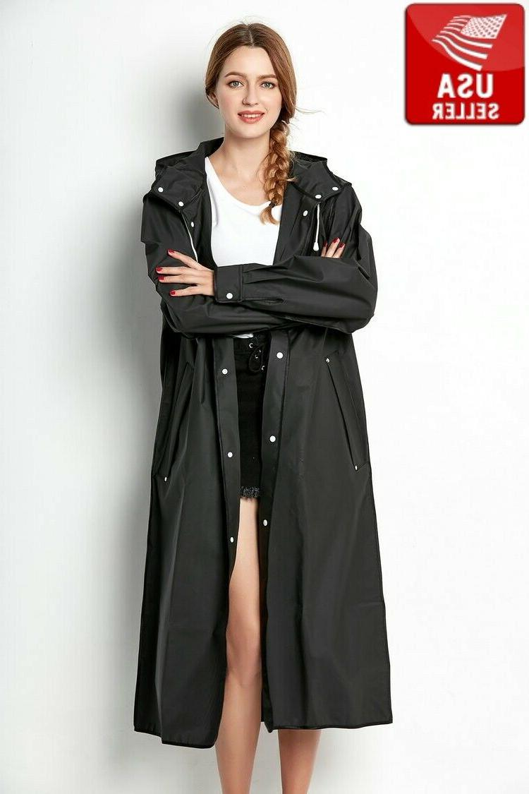 beautiful black eva womens raincoat outdoor jacket