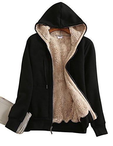 casual winter warm sherpa lined