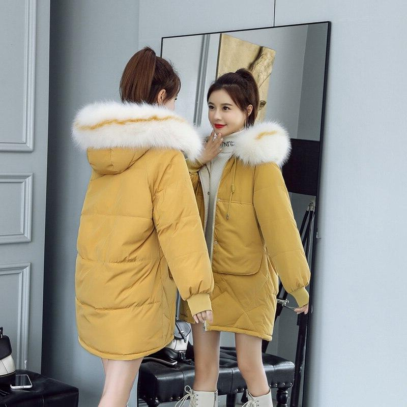 Orwindny 2019 Winter Parka a Hood <font><b>Jackets</b></font> <font><b>Women's</b></font> Warm Coat Fashion Coat Padded <font><b>S</b></font>-3XL Large Coats