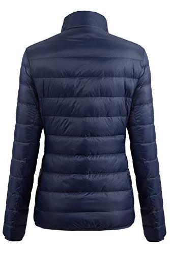 Fantiny Women's Ultra Weight Collar Down Jacket Packable Short Coats with