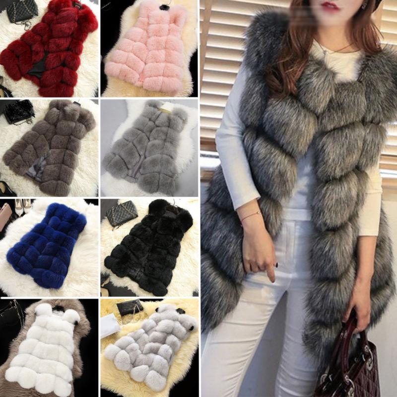 Fashion Faux Jacket Body Vest Waistcoat Gilet Outwear