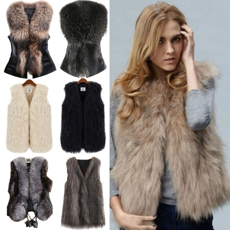 Fashion Faux Jacket Body Sleeveless Vest Gilet