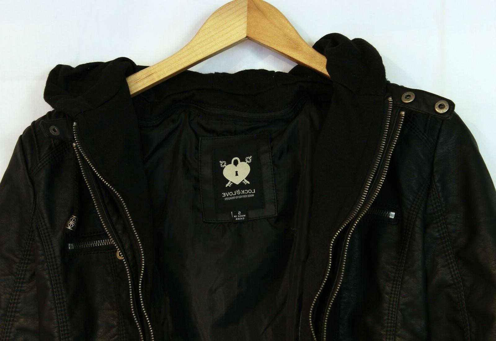 Lock and Leather Moto removeable Hoodie S