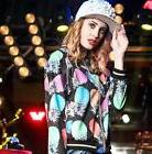 Floral Vintage DJ Nightclub Dancing Hip Hop Women Fashion Ja