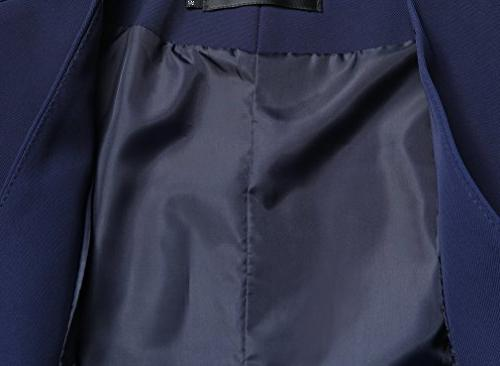 Foucome Fitted Business Button Down Waistcoat Navy L - 4XL