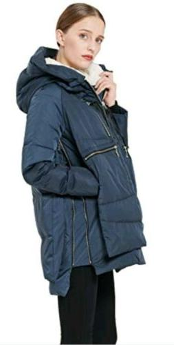 Orolay Hooded Winter Women Casual Thick Outwear XS.