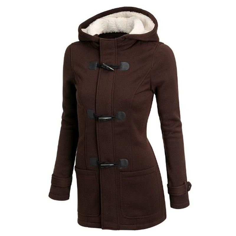 Hooded Parka Size Thick Snow Fashion Long Female Solid <font><b>S</b></font>-85