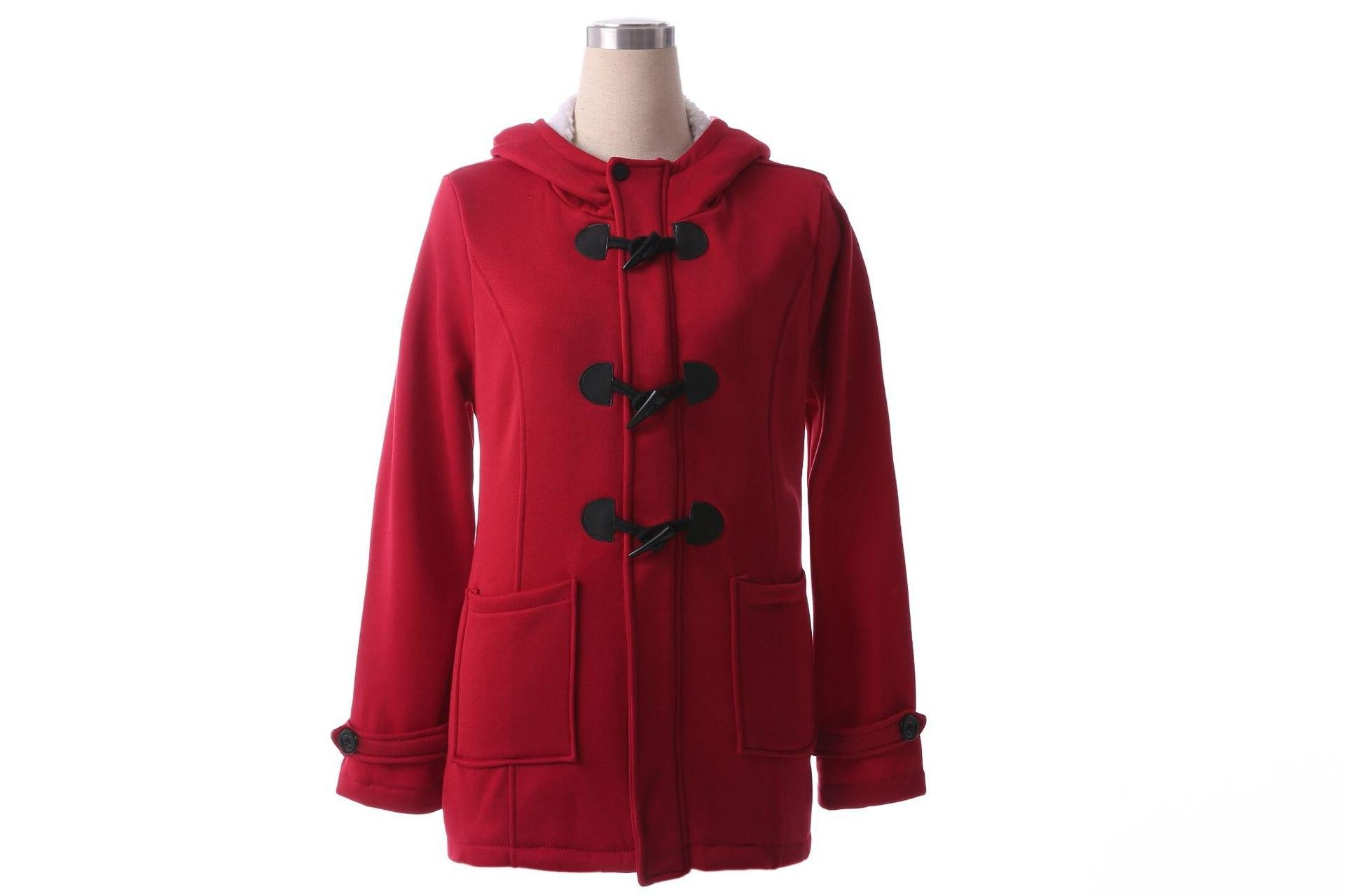 Hooded Size Snow Cotton Fashion Overcoat Street Female