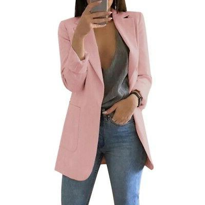 US Women Coat Business Blazer Long Sleeve P/D