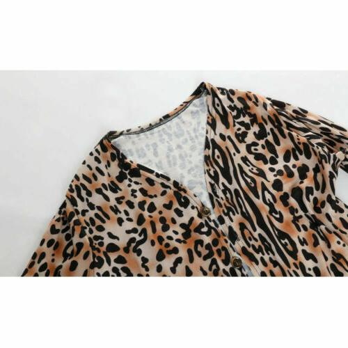 Hot Leopard Coat Long Tops