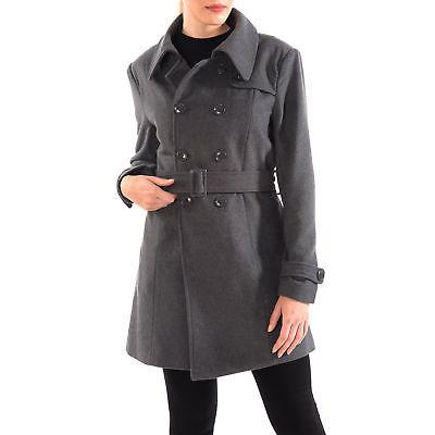 Alpine Swiss Keira Women's Trench Coat Double Breasted Wool
