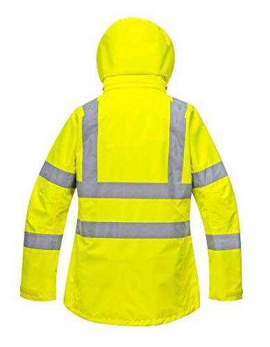 Portwest Ladies Jacket Insulated Safety Visability Work Bomber ANSI X