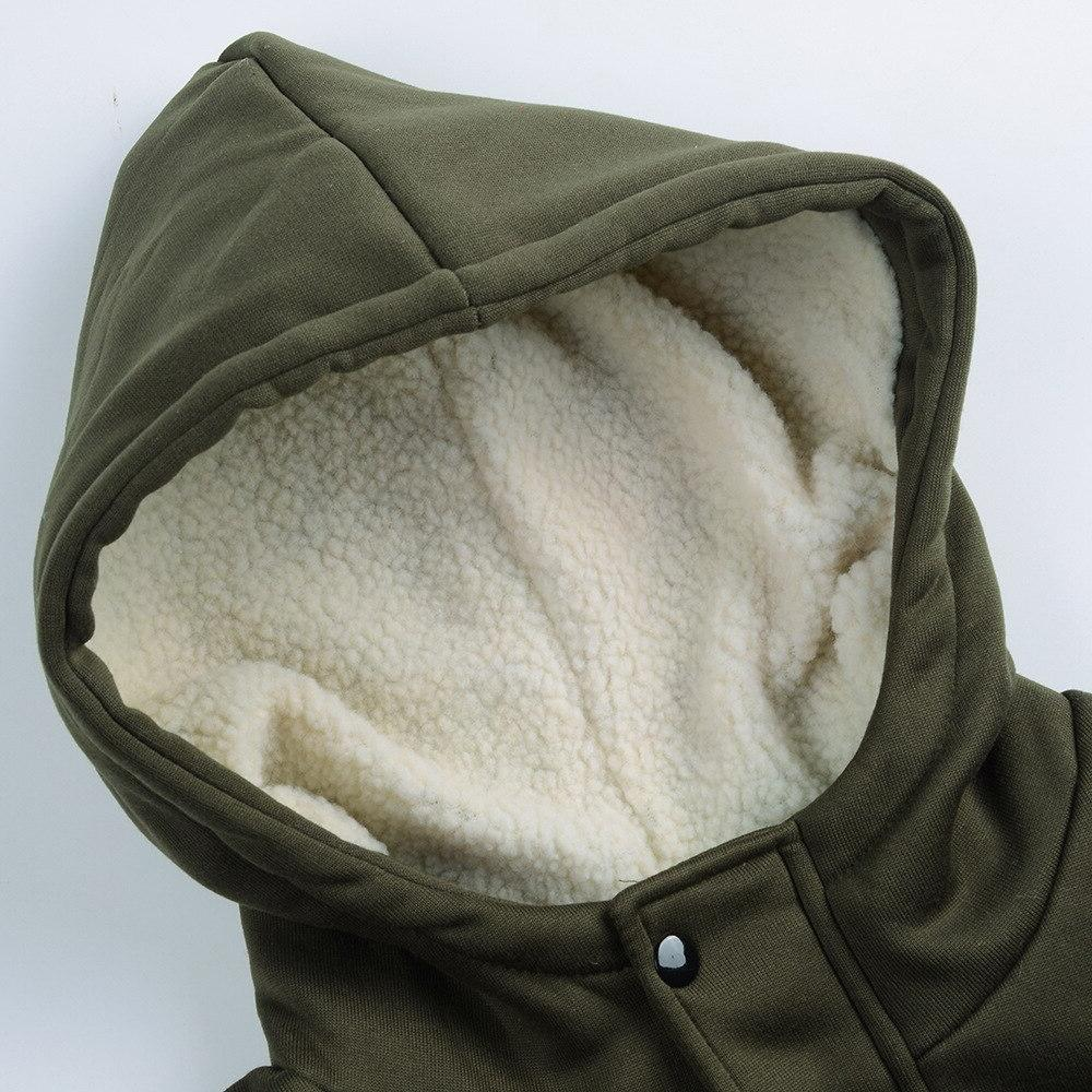 Large <font><b>Jacket</b></font> Autumn Casual thin <font><b>Jackets</b></font> <font><b>women</b></font> <font><b>Hooded</b></font> Mixed Cotton Horn buckle