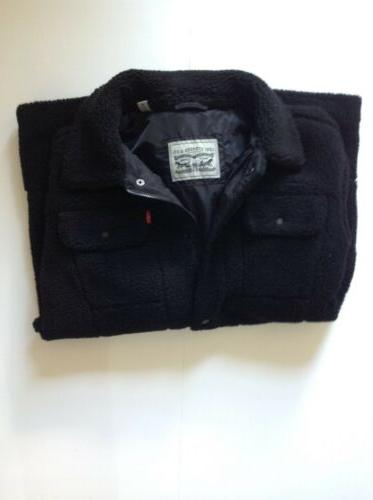 LEVI'S SHERPA TRUCKER JACKET.BLACK-MEDIUM.NWT.RETAIL
