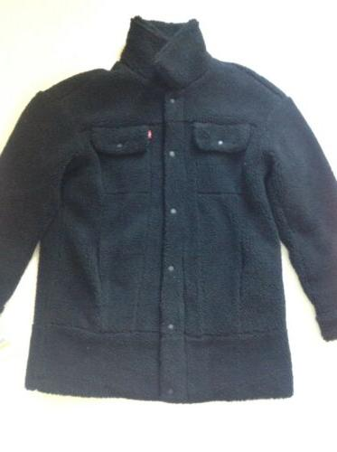 LEVI'S OVERSIZED SHERPA TRUCKER JACKET.BLACK-MEDIUM.NWT.RETAIL