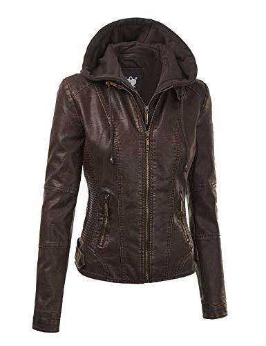 Lock Love LL WJC1044 Womens Quilted Jacket with