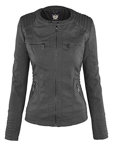 Lock Love WJC663 Motorcyle Jacket L Grey