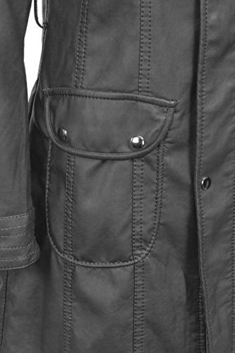 Lock and Love WJC741 Womens Leather Trench