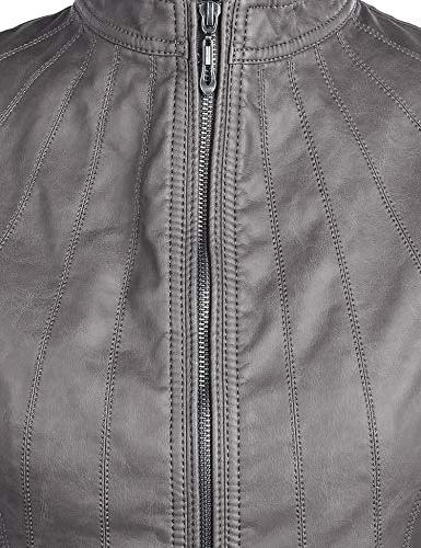 Lock and WJC877 Panelled Faux Leather Grey