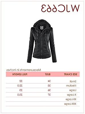 Made Johnny Womens Removable Hoodie Jacket BLACK