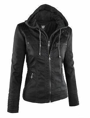 Lock and Love LL Womens leather Jacket Large