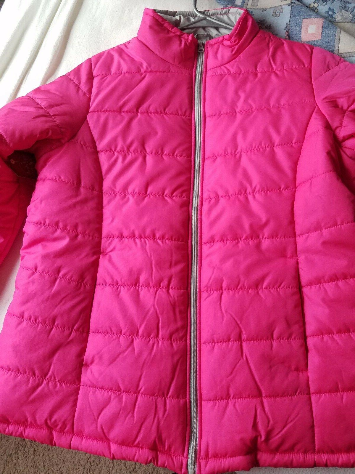 Maternity Lightweight Bubble Jacket womens Hot Pink