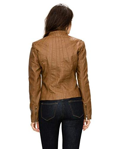 Made By MBJ WJC877 Leather Moto Camel