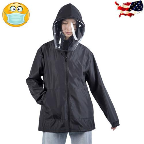 men women waterproof hooded outdoor coat removable