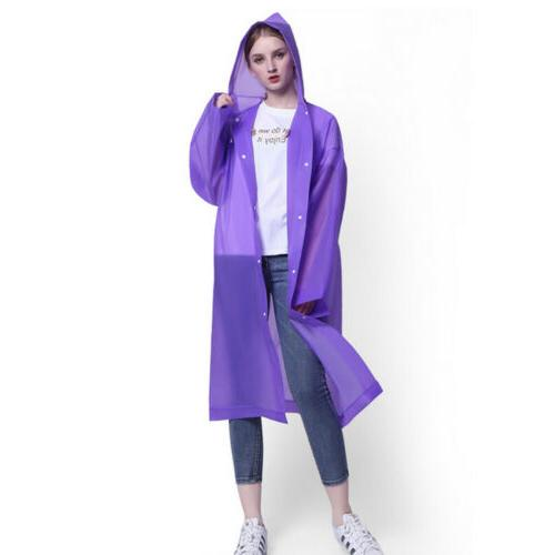 Men Women Jacket PE Hooded Coat Rainwear