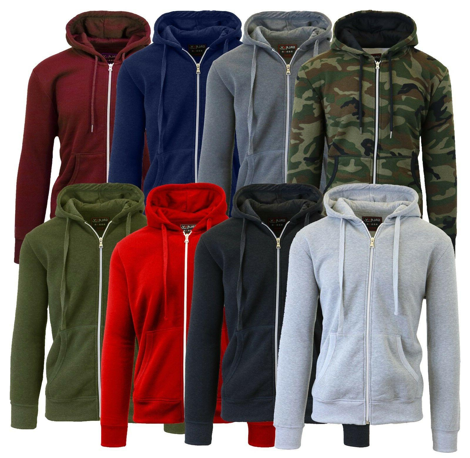 Mens Fleece Hoodie Jacket Sweater For Layering Warm Lounge F