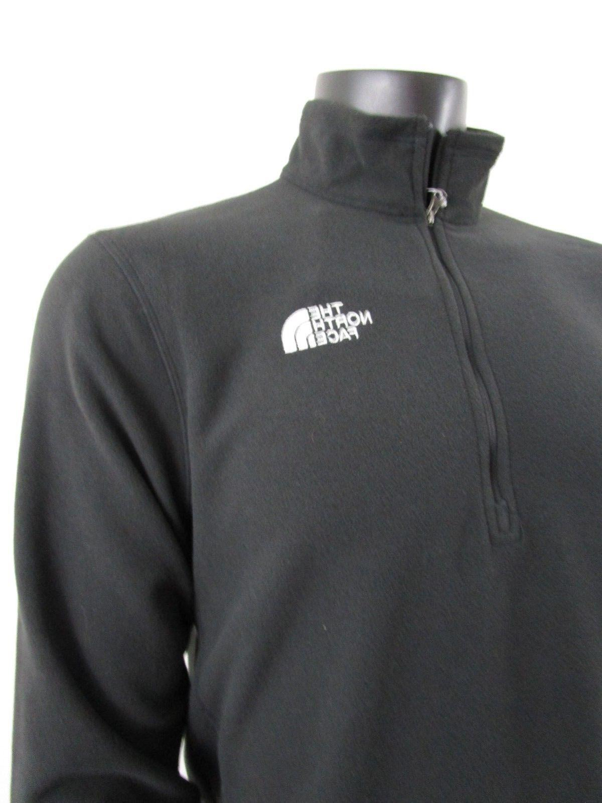 Mens The Face Zip Pullover Black