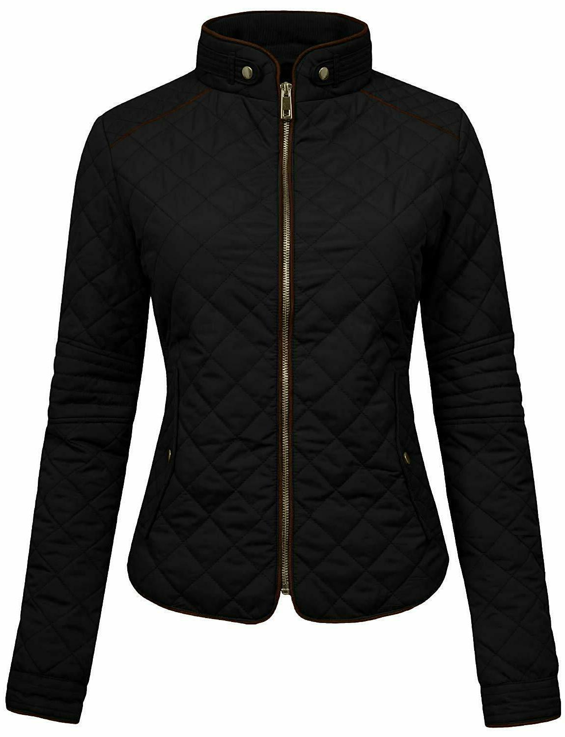 ne people womens lightweight quilted zip jacket