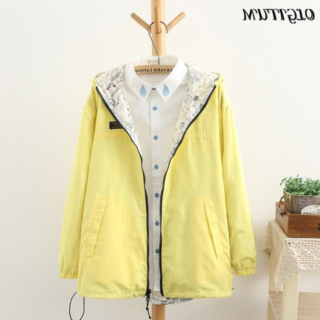 NEW 2019 Spring women <font><b>Bomber</b></font> Pocket Zipper side outwear plus