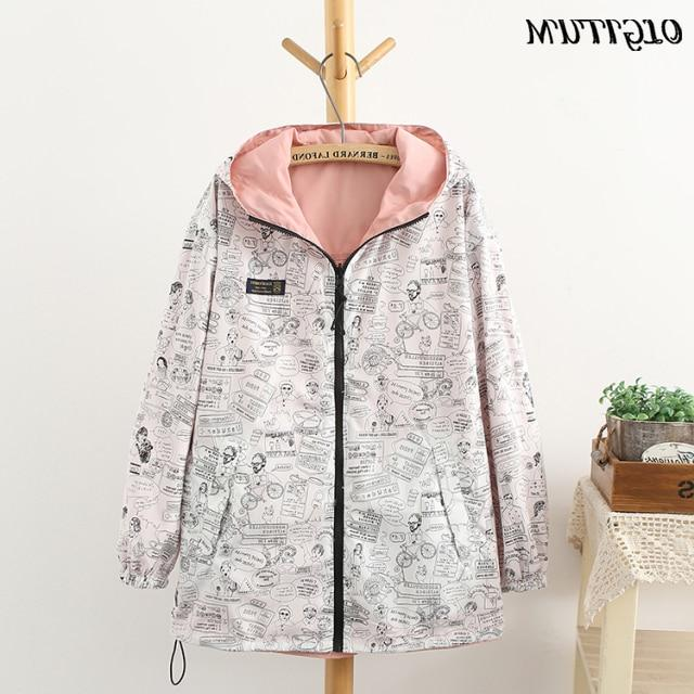 NEW 2019 women <font><b>Bomber</b></font> Pocket Zipper two side outwear