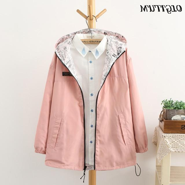 NEW Spring women <font><b>Bomber</b></font> women Pocket Zipper two side outwear plus