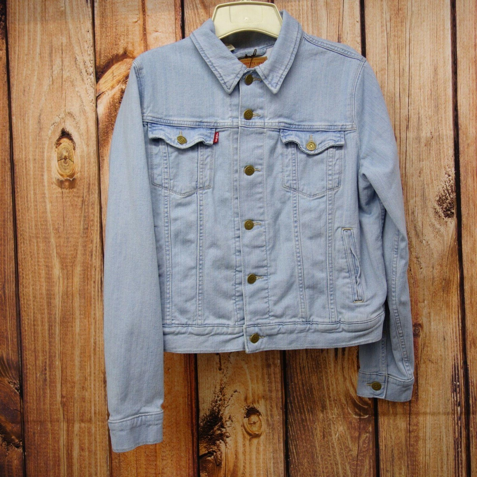 New Dark Blue Classic Trucker Jacket XS-2XL