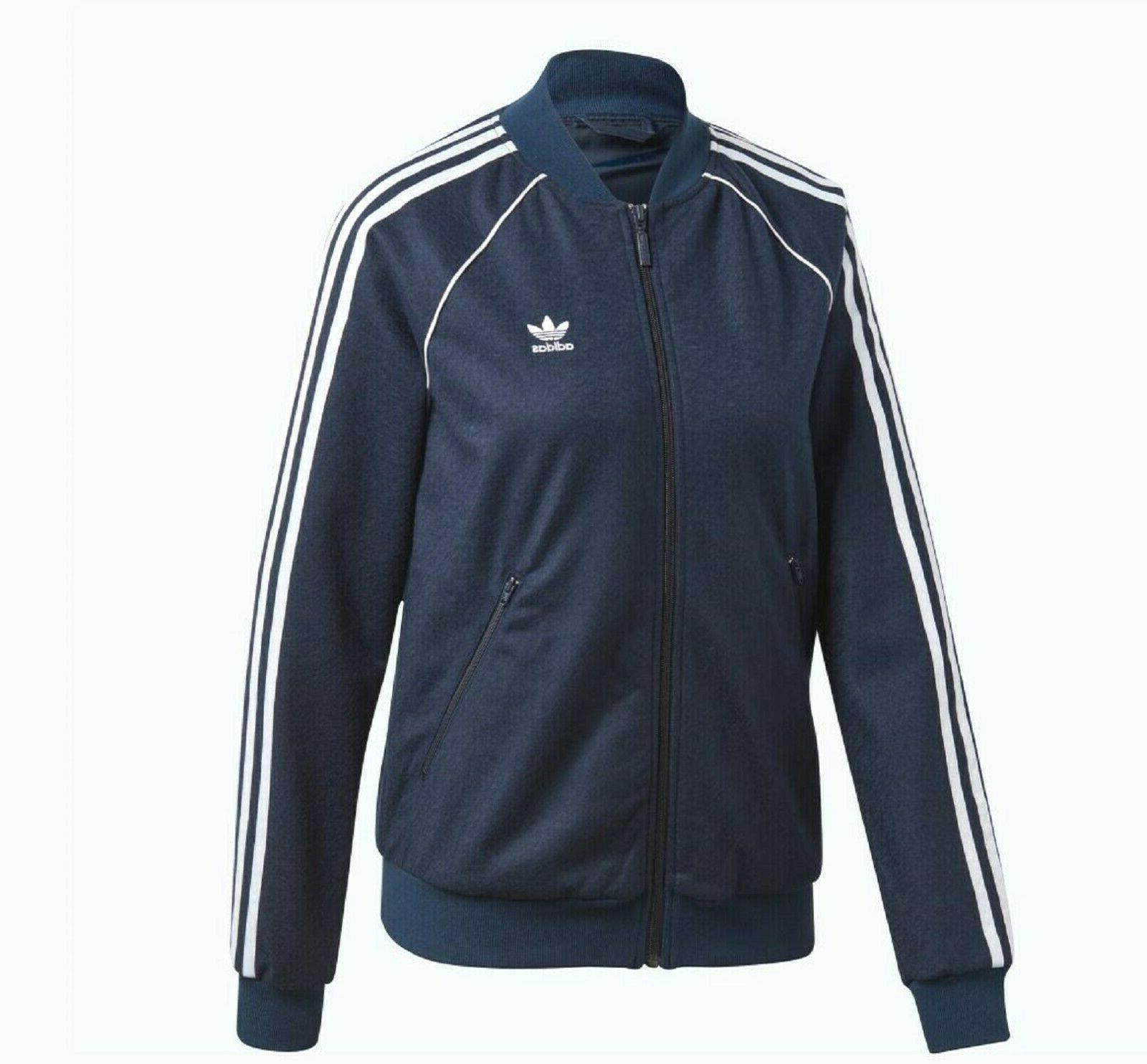 NEW SUPERSTAR TREFOIL TRACK JACKET ~ MEDIUM DH3101 NAVY