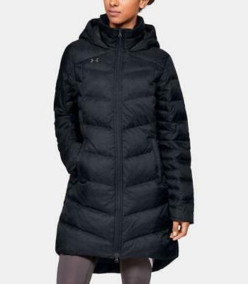new outerbound down parka black ua puffy